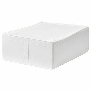 IKEA イケア SKUBB スクッブ 収納ケース ホワイト 50290361 幅44×奥行き55×高さ19cm ベッド下収納