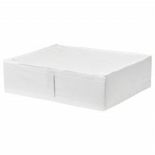 IKEA イケア SKUBB スクッブ 収納ケース ホワイト d70294990 幅69×奥行き55×高さ19cm ベッド下収納