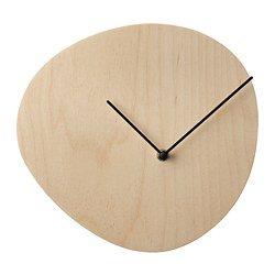 IKEA イケア ウォールクロック バーチ材合板 28cm z70358784 SNAJDARE