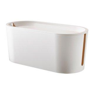 IKEA イケア ケーブルマネジメントボックス ふた付き ホワイト a10289835 ROMMA