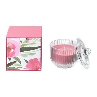 IKEA イケア BLOMDOFT 香り付きキャンドル グラス入り ボタン ピンク z80370525