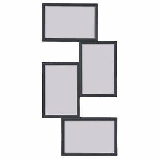 IKEA イケア コラージュフレーム 写真4枚用 ブラック n30429769 YLLEVAD