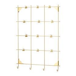 IKEA イケア メモボード クリップ付き 黄銅色 MYRHEDEN z90338243