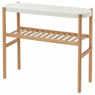 IKEA イケア SATSUMAS プラントスタンド 竹 ホワイト d80294961