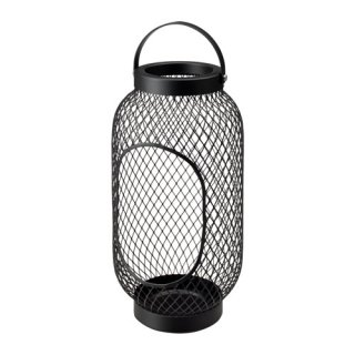 IKEA イケア TOPPIG ブロックキャンドル用ランタン ブラック d70327288