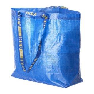 IKEA イケア FRAKTA キャリーバッグ M ブルー 40301708