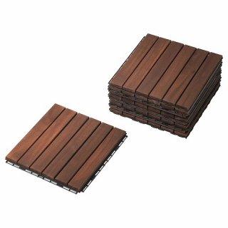 IKEA イケア フロアデッキ 屋外用 ブラウン n30400445 RUNNEN