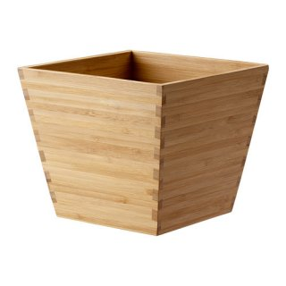 IKEA イケア VILDAPEL 鉢カバー 12cm 竹 d70244132