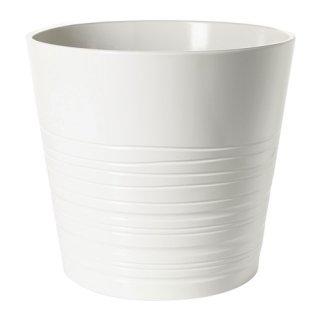 IKEA イケア 鉢カバー 24cm ホワイト E20308206 MUSKOT