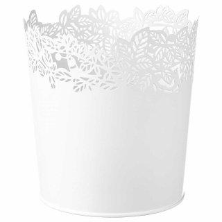 IKEA イケア SAMVERKA 鉢カバー 12cm ホワイト z90388742