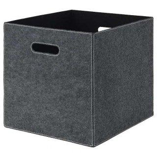 IKEA イケア ボックス 33x38x33cm グレー n60461932 BLADDRA