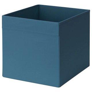 IKEA イケア ボックス 33x38x33cm ダークブルー n80459848 DRONA