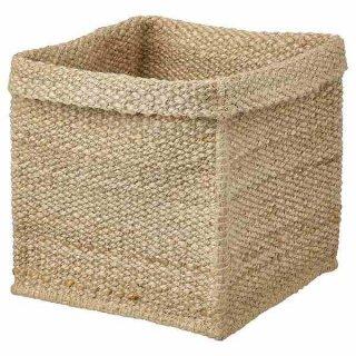 IKEA イケア バスケット 30x30x35cm ジュート n60439521 TJILLEVIPS
