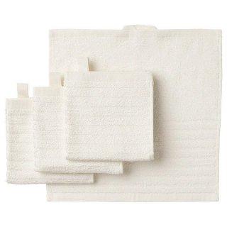 IKEA イケア タオルハンカチ ホワイト 30x30cm 4ピース n90350999 VAGSJON