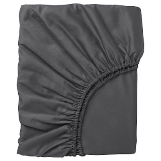 IKEA イケア ボックスシーツ ダークグレー セミシングル 80x200cm n30442681 NATTJASMIN