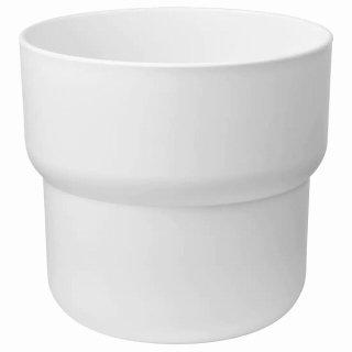 IKEA イケア 鉢カバー 室内 屋外用 ホワイト 24cm n00454816 FORENLIG