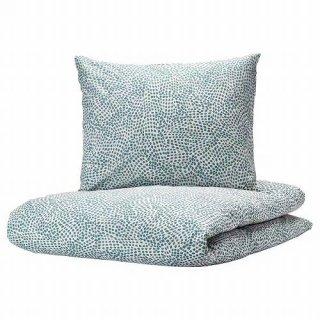 IKEA イケア 掛け布団カバー&枕カバー ホワイト ブルー シングル 150x200 50x60cm n30392841 TRADKRASSULA