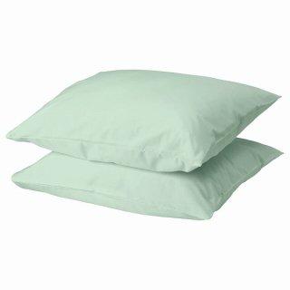 IKEA イケア 枕カバー ライトグリーン 50x60cm 2 ピース n70459764 DVALA