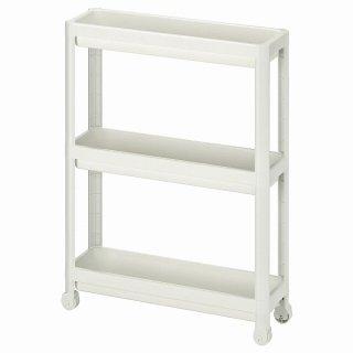 IKEA イケア ワゴン ホワイト 54x18x71cm n50453881 VESKEN