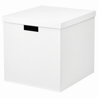 IKEA イケア 収納ボックス ふた付き ホワイト 32x35x32cm n60469301 TJENA
