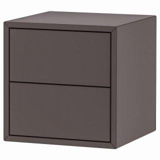 IKEA イケア キャビネット 引き出し×2 ダークグレー 35x35x35cm n70428918 EKET