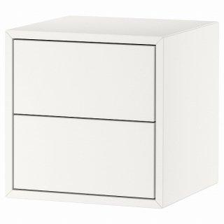 IKEA イケア キャビネット 引き出し×2 ホワイト 35x35x35cm n10428916 EKET