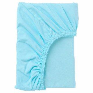 IKEA イケア ボックスシーツ ブルー 80x165cm n50465285 LEN レーン