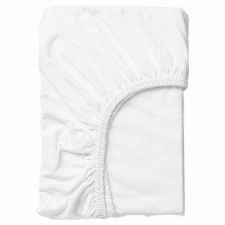 IKEA イケア ボックスシーツ ホワイト 80x165cm n20465277 LEN レーン