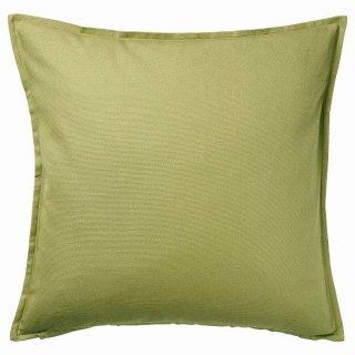 IKEA イケア クッションカバー オリーブグリーン 50x50cm n60474699 GURLI【カバーのみ】