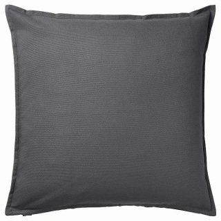 IKEA イケア クッションカバー ダークグレー 50x50cm n20474696 GURLI【カバーのみ】