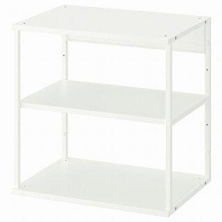 IKEA イケア オープンシェルフユニット ホワイト 60x40x60cm n00452577 PLATSA