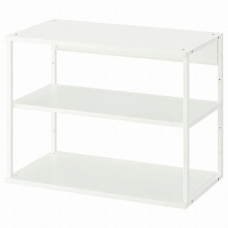 IKEA イケア オープンシェルフユニット ホワイト 80x40x60cm n50452551 PLATSA