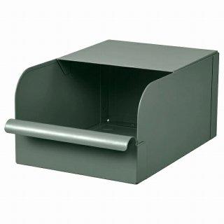 IKEA イケア ボックス グレーグリーン メタル 17.5x25.0x12.5cm n00457792 REJSA