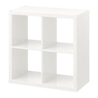 IKEA イケア KALLAX カラックス シェルフユニット ハイグロス ホワイト n60471728