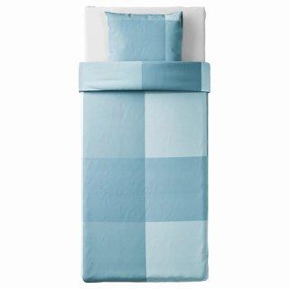 IKEA イケア 掛け布団カバー&枕カバー ライトブルー シングル 150x200 50x60cm n00482089 BRUNKRISSLA