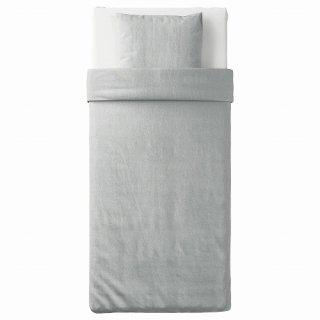 IKEA イケア 掛け布団カバー&枕カバー ライトグレー メランジ シングル 150x200 50x60cm n60479791 SPJUTVIAL