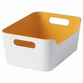 IKEA イケア ボックス オレンジ 24x17cm n50486706 VARIERA