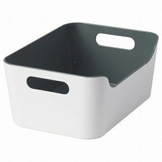 IKEA イケア ボックス グリーン グレー 24x17cm n10486708 VARIERA