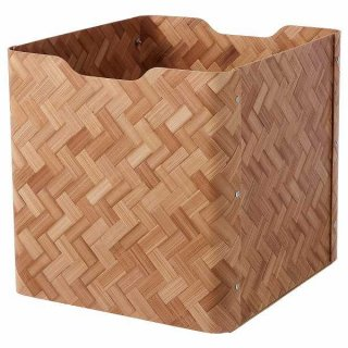 IKEA イケア ボックス 竹 ブラウン 32x35x33cm n10474593 BULLIG