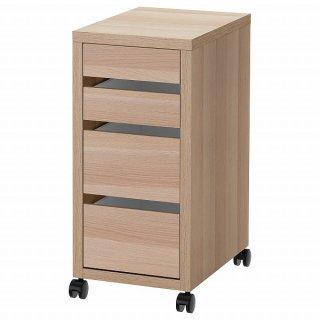 IKEA イケア 引き出しユニット キャスター付き ホワイトステインオーク調 35x75cm n70488889 MICKE ミッケ