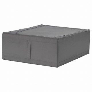 IKEA イケア 収納ケース ダークグレー 44x55x19cm n40472984 SKUBB