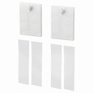 IKEA イケア 粘着テープ付きフック フレーム用 ホワイト n90382844 ALFTA