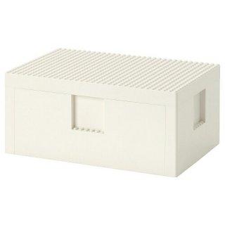 IKEA イケア  レゴボックス ふた付き ホワイト26x18x12cm  コラボ n30453405 BYGGLEK