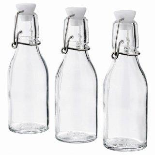 IKEA イケア ボトル ふた付き クリアガラス 150ml n30476336 KORKEN