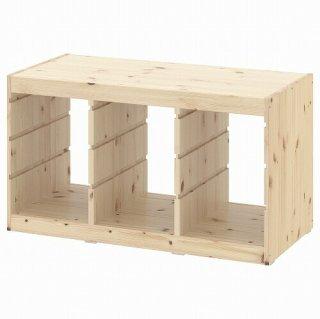 IKEA イケア  フレームライトホワイトステインパイン93x44x53 cm n30368836 TROFAST