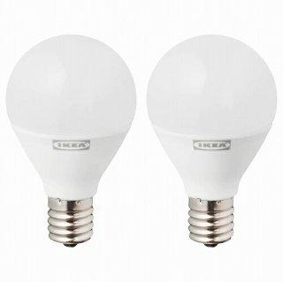IKEA イケア LED電球 E17 440ルーメン 球形 オパールホワイト 6500ケルビン 2 ピース n60448021 RYET
