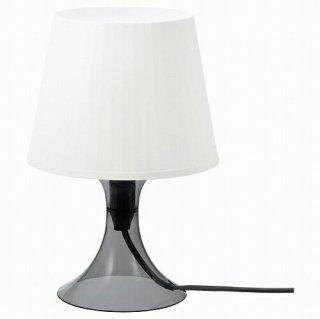IKEA イケア テーブルランプ ダークグレー ホワイト 29cm n10484078 LAMPAN