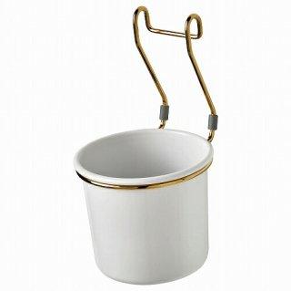 IKEA イケア 小物入れ ホワイト 黄銅色 ポリッシュ14x16cm m90462831 HULTARP