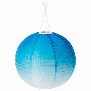 IKEA イケア LED太陽電池式ペンダントランプ 屋外用 球形 ブルートーン45cm m40487358 SOLVINDEN