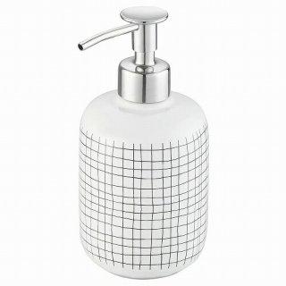 IKEA イケア ソープディスペンサー ホワイト 網目模様 m10496000 BRILLDAMMEN